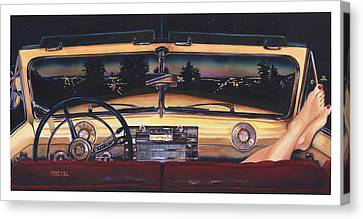 That Night On Walters Hill Canvas Print by Mike Hill