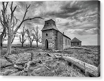 Canvas Print featuring the photograph That Old Time Religion Black And White by JC Findley