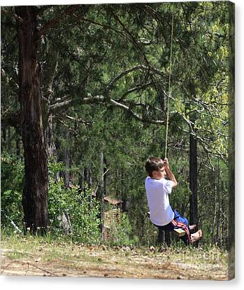 Canvas Print featuring the photograph That Ole' Rope Swing by Kim Henderson