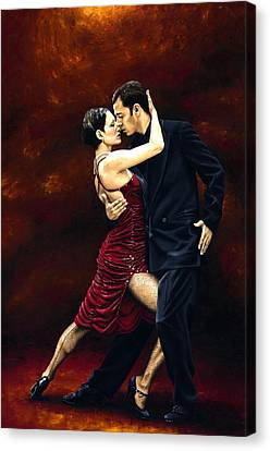 Passionate Lovers Canvas Print - That Tango Moment by Richard Young