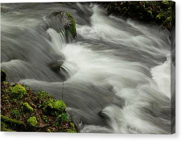 That View Of The Flow Canvas Print by Jeff Swan