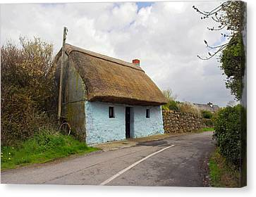 Thatch Roof Cottage Galway Canvas Print by Pierre Leclerc Photography