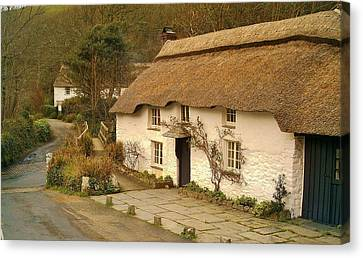 Thatched Cottage By Ford  Canvas Print by Richard Brookes