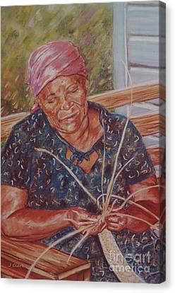 Thatching Canvas Print