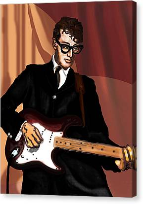 That'll Be The Day- Buddy Holly Canvas Print by David Fossaceca