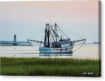 That's Where The Shrimp Are My Boy Canvas Print by Walt  Baker