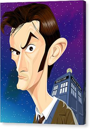 The 10th Doctor Canvas Print by Kevin Greene