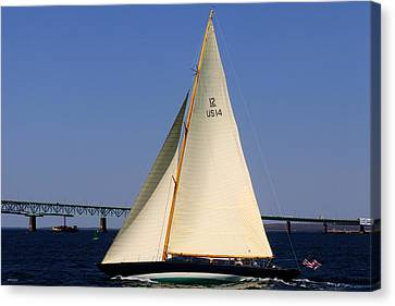 The 12 Meter Newport Canvas Print