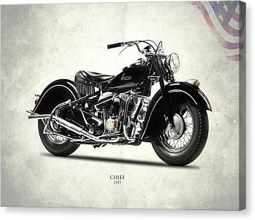 The 1947 Chief Canvas Print by Mark Rogan