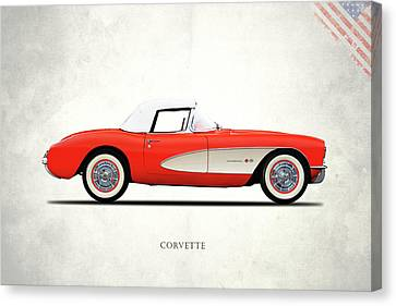 The 1957 Corvette Canvas Print by Mark Rogan