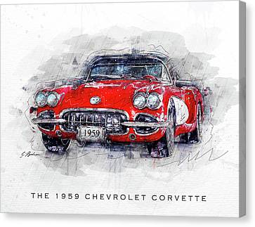 The 1959 Chevrolet Corvette Canvas Print