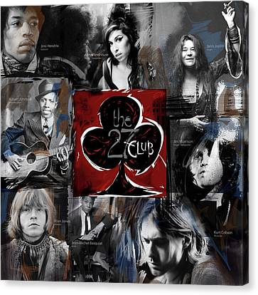 The 27 Club Canvas Print