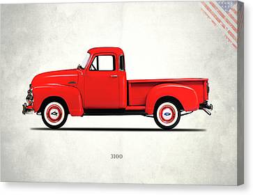 Chevrolet Pickup Truck Canvas Print - The 3100 Pickup Truck by Mark Rogan