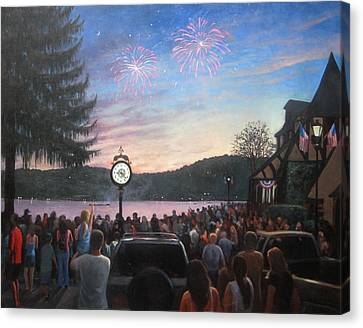 the 4th of July on Lake Mohawk Canvas Print