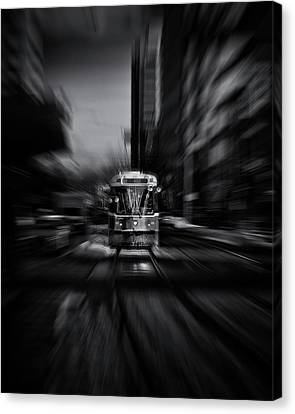 Canvas Print featuring the photograph The 512 St. Clair Streetcar Toronto Canada Flow by Brian Carson