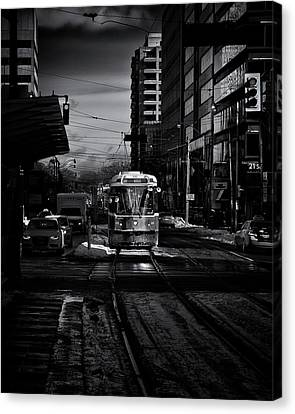 Canvas Print featuring the photograph The 512 St.clair Streetcar Toronto Canada by The Learning Curve Photography