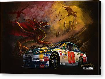 Jr Motorsports Canvas Print - The 88 by Darren Jolly