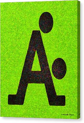 The A With Style Lime - Pa Canvas Print