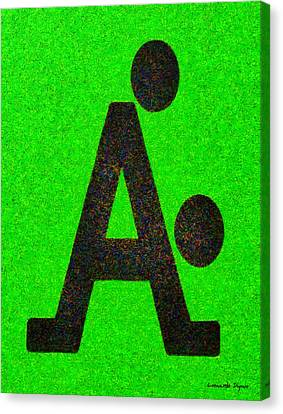 The A With Style - Pa Canvas Print