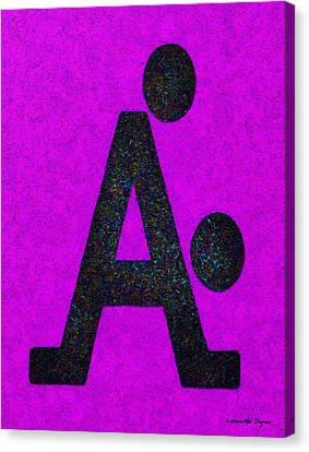 With Canvas Print - The A With Style Purple - Da by Leonardo Digenio