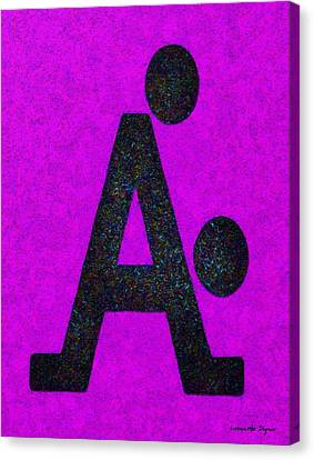 The A With Style Purple - Pa Canvas Print