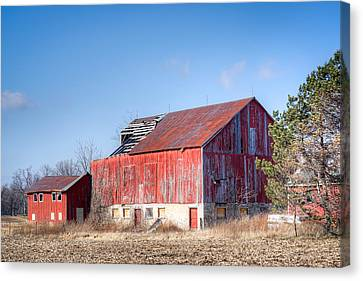 The Abandoned Barn Canvas Print by Nick Mares