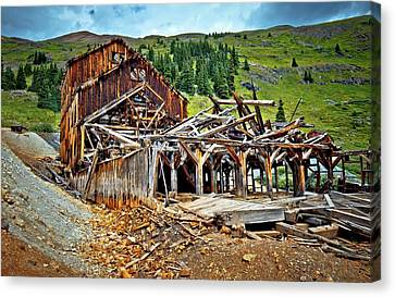 West Fork Canvas Print - The Abandoned Frisco Mill by Linda Unger