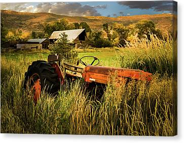 The Abandoned Tractor - 2 Canvas Print