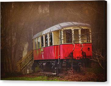 The Abandoned Tram In Salzburg Austria  Canvas Print by Carol Japp