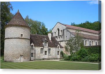 The Abbey De Fontenay Canvas Print by Marilyn Dunlap