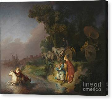 Vintage Painter Canvas Print - The Abduction Of Europa By Rembrandt Harmensz. Van Rijn by Esoterica Art Agency