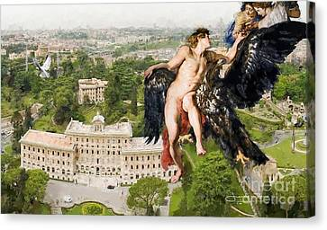 The Abduction Of Ganymede From St.peters Basilica Canvas Print by Art Gallery