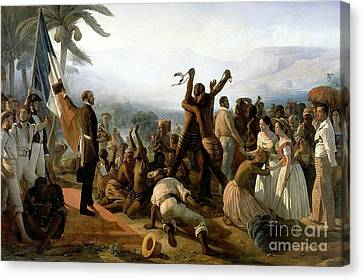 The Abolition Of Slavery In The French Colonies  Canvas Print