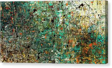 Canvas Print featuring the painting The Abstract Concept by Carmen Guedez