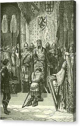 Armor Canvas Print - The Accolade  by French School