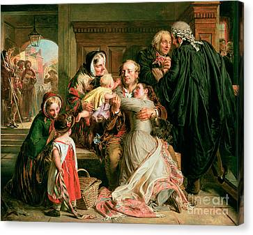 The Acquittal Canvas Print by Abraham Solomon