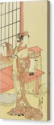 The Actor Segawa Kikunojo II, Possibly As Princess Ayaori In The Play Ima O Sakari Suehiro Genji  Canvas Print by Ippitsusai Buncho