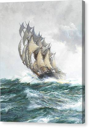 Sphere Canvas Print - The Adelaide - Detail by Montague Dawson
