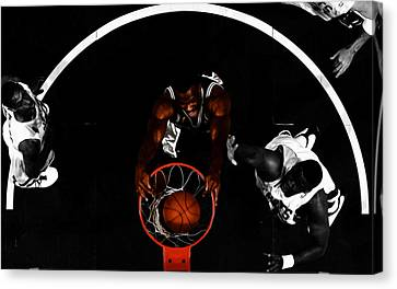 All Star Game Canvas Print - The Admiral David Robinson by Brian Reaves