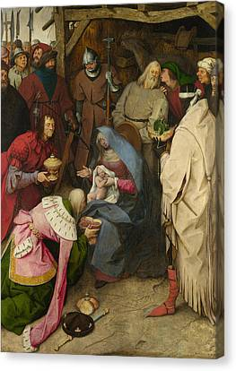Bruegel Canvas Print - The Adoration Of The Kings by Pieter Bruegel the Elder