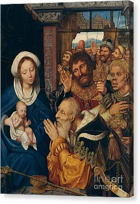The Adoration Of The Magi, 1526 Canvas Print by Quentin Massys or Metsys
