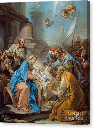 Nativity Canvas Print - The Adoration Of The Magi by Carle van Loo