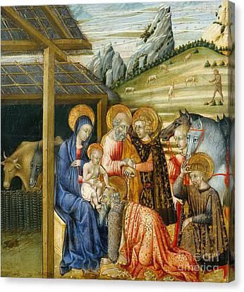 The Adoration Of The Magi Canvas Print by Giovanni di Paolo di Grazia