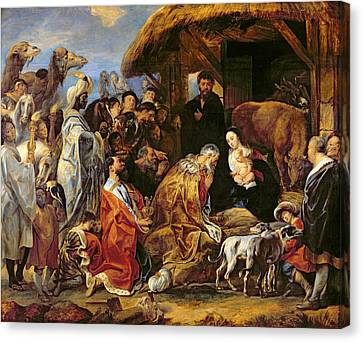 Three Kings Canvas Print - The Adoration Of The Magi by Jacob Jordaens