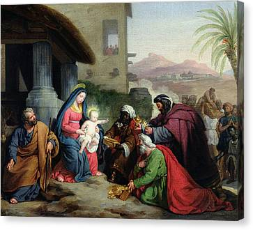 Three Kings Canvas Print - The Adoration Of The Magi by Jean Pierre Granger