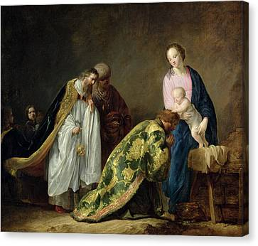 Three Kings Canvas Print - The Adoration Of The Magi by Pieter Fransz de Grebber
