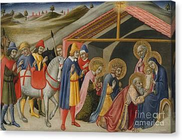 The Adoration Of The Magi Canvas Print by Sano di Pietro or Ansano di Pietro di Mencio