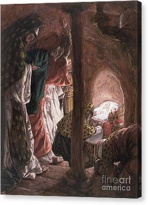 Three Kings Canvas Print - The Adoration Of The Wise Men by Tissot