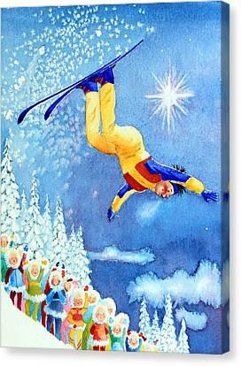 The Aerial Skier 18 Canvas Print by Hanne Lore Koehler