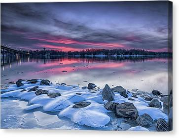 Canvas Print featuring the photograph The Afterglow by Edward Kreis